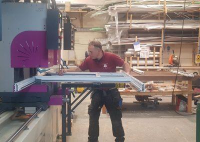 Dan Measuring in factory