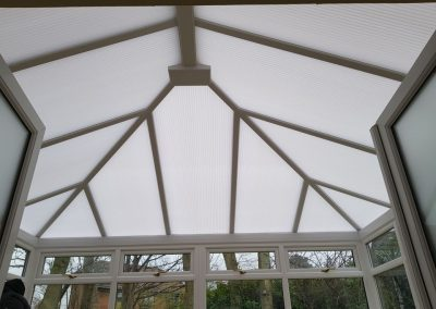 New Brown Conservatory roof inside