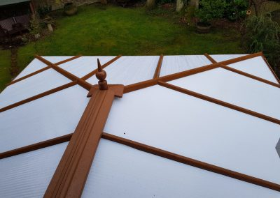 New Brown conservatory roof