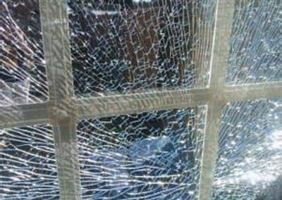 smashed glass units