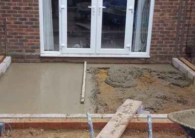 Vickies Conservatory foundations